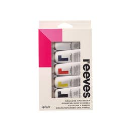 Reeves Gouache Paint Set with Brush