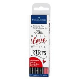 Faber-Castell Pitt Artist Hand Lettering Pen Sets Love of Lettering Set 4