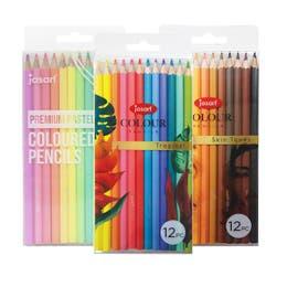 Jasart Colour Pencil Set12 Pastel, Tropical, Skin Tones