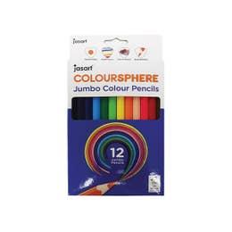Jasart Colour Sphere Jumbo Colour Pencil Sets Triangular Barrel