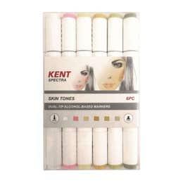 Kent Spectra Graphic Design Marker Skin Tones (Set 6)