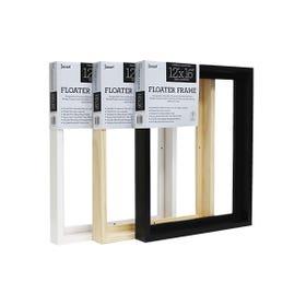"Jasart Thick Edge Floater Frame Black 12""x 16"""