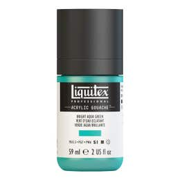 Liquitex Professional Acrylic Gouache Paints Bottle Cap On Bright Aqua Green
