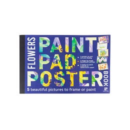 Paint Pad Poster Book Flowers