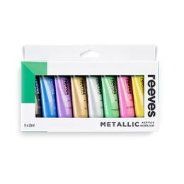 Reeves Acrylic 22ml Metallic Paint Set