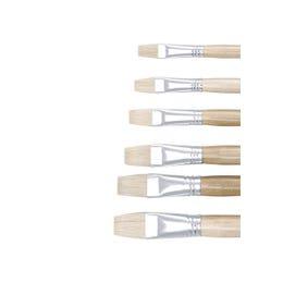 Jasart Flat Hog Hair Brushes Series 579 Long Handle Size 1