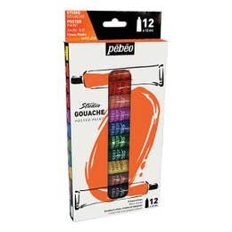 Pebeo Studio Gouache Paint Set 12 x 12ml