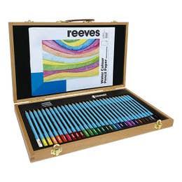 Reeves Watercolour Pencils Wooden Box Set