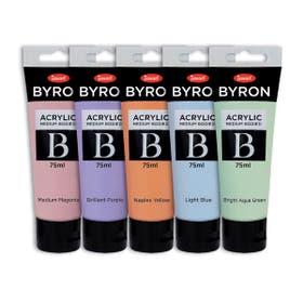 Jasart Byron Acrylic Pastel Paint 75ml Set Open