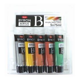 Jasart Byron Acrylic Metallic Paint 75ml Set