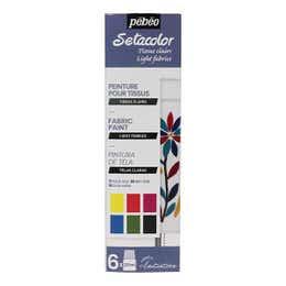 Pebeo Setacolor Light Fabric Paint Set 6 x 20ml