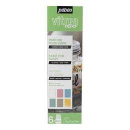 Pebeo Vitrea 160 Pastel Glass Paint Set