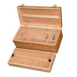 Jasart Artist Wooden Paint Box - 2-Tier