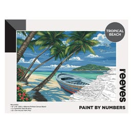 Reeves Artist Acrylic Paint by Numbers Tropical Beach