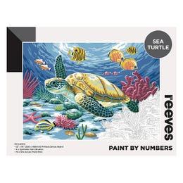 Reeves Artist Acrylic Paint by Numbers Sea Turtle