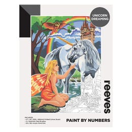 Reeves Artist Acrylic Paint by Numbers Unicorn Dreaming