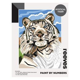 Reeves Artist Acrylic Paint by Numbers Mystical Tiger
