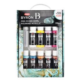 Jasart Byron Pre-Mixed Acrylic Pour Paint Set