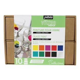 Pebeo Vitrea 160 Glass Paint Collection Case