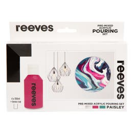 Reeves Pre-Mixed Acrylic Pouring Paisley Set