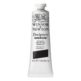 Winsor & Newton Designer's Gouache Paint 37ml Jet Black Tube