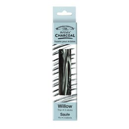 Winsor & Newton Willow Charcoal Thin | Pack 3