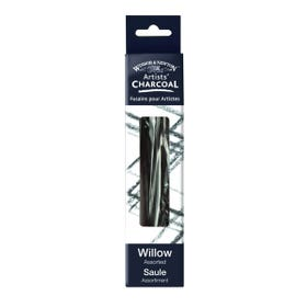 Winsor & Newton Willow Assorted Short Charcoal Box 24