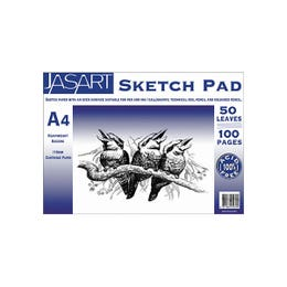 Jasart Sketch Pads 110gsm 50 Pages A2