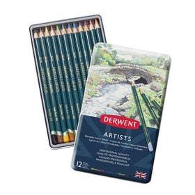 Derwent Artists Pencil Tin 12 Open