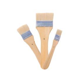 Jasart Flat Hog Bristle Brushes Series 713 Flat Short Handle Size 1
