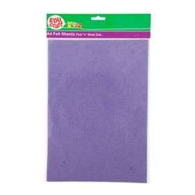 EDUcraft Felt Sheets A4 Adhesive Pack 2