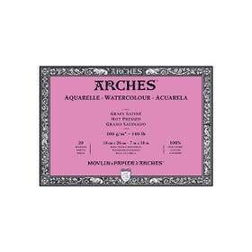Arches Watercolour Blocks Smooth (Hot Pressed) 300gsm 20 Pages 180mm x 260mm