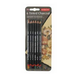 Derwent Tinted Charcoal Pencil Sets Pack 6