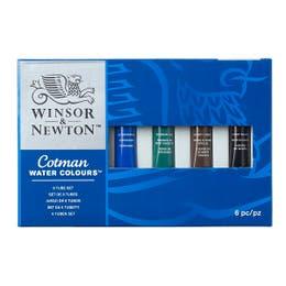 Winsor & Newton Cotman Watercolour 6x8ml Tube Set