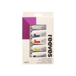 Reeves Oil Paint Set with Brush 5 x 22ml + Brush