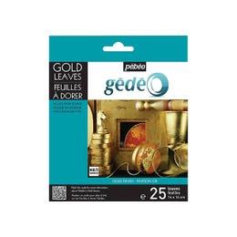 Pebeo Gedeo Imitation Metallic Leaves Pack 25 Gold