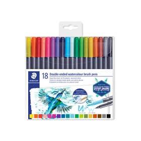 STAEDTLER Double-Ended Watercolour Brush Pen Sets Wallet 18