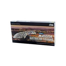 Matisse Flow Formula Acrylic Sets Australian Colours 10 x 75ml