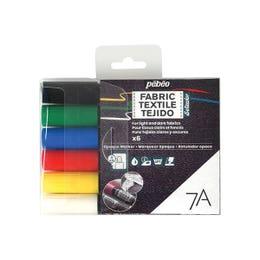 Pebeo 7A Opaque Fabric Marker Set 6 Assorted Opaque Colours