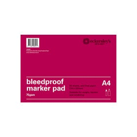 Eckersley's Bleedproof Pads 70/75gsm 50 Pages A4
