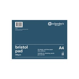 Eckersley's Bristol Pads 300gsm 20 Pages A4