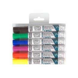 Pebeo 7A Light Fabric Marker Set 6 Assorted Light Colours