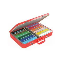 Faber-Castell Red Range Watercolour Pencil Suitcase Tin 300 Open