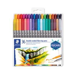 STAEDTLER Double Ended Fibre-Tip Pen Sets Assorted Wallet 36