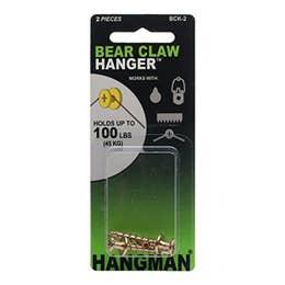"Hangman Gold Double Headed Bearclaw Hanger Pack 2 (1"")"