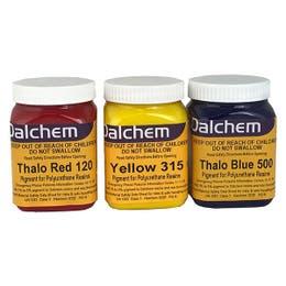 Dalchem Polyurethane Pigments Group Thalo Red, Yellow, Thalo Blue