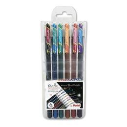 Pentel Hybrid Dual Metallic Gel Pen Set