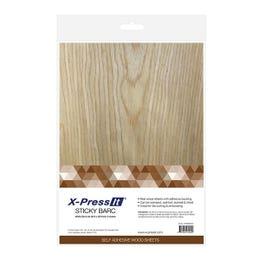 X-Press It Sticky Barc Sheets Pack 3 A4 White Birch