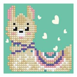 Diamond Dotz Llama Heart with Frame Kit Design