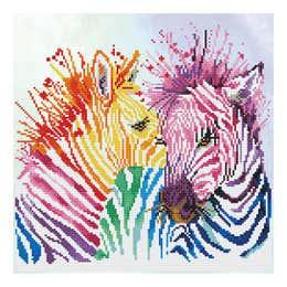 Diamond Dotz Rainbow Zebras Kit Design
